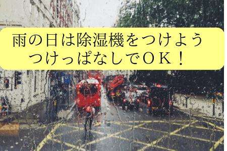雨の日は除湿機をつかう