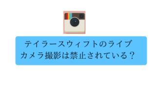 テイラースウィフトのライブはカメラ撮影OK?【禁止アイテム】