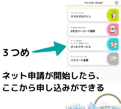 マイナンバーカードから特別定額給付金10万円を申請